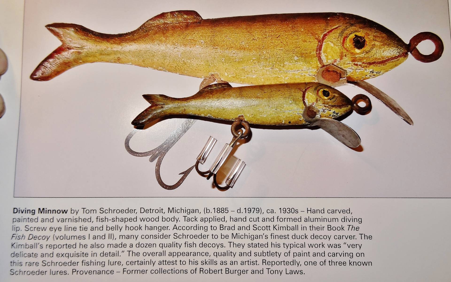 Superb orig paint 1 of 3 lures to exist c1930 tom for Fishing lure paint