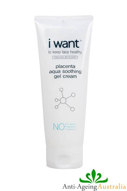 i-WANT-Placenta-Aqua-Soothing-Gel-Cream-210ml-Facial-Whitening-Anti-Ageing-NEW