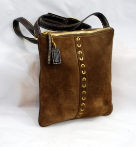 Rare & s Cute! Coach Slim Suede Crossbody!