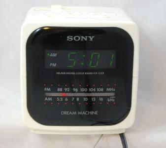 Vintage Sony Dream Machine White Digicube Cube Clock Radio ...