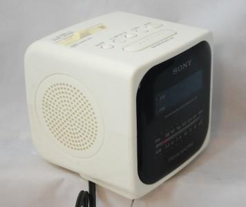 Vintage Sony Dream Machine White Digicube Cube Clock Radio ICF C122