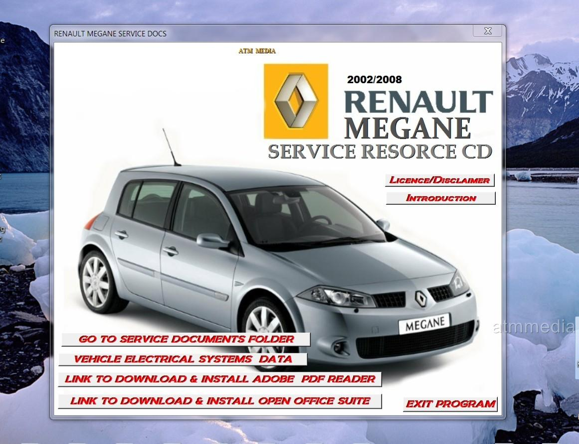 Renault Megane 2 Maintainance  Repair  Workshop  Technical Manual On New Pc Cd Rom
