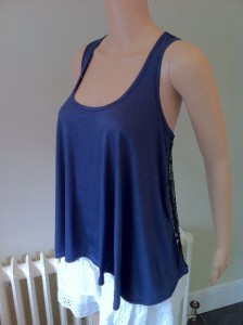 River Island Spider Web Lace Back Vest Top UK Size 10