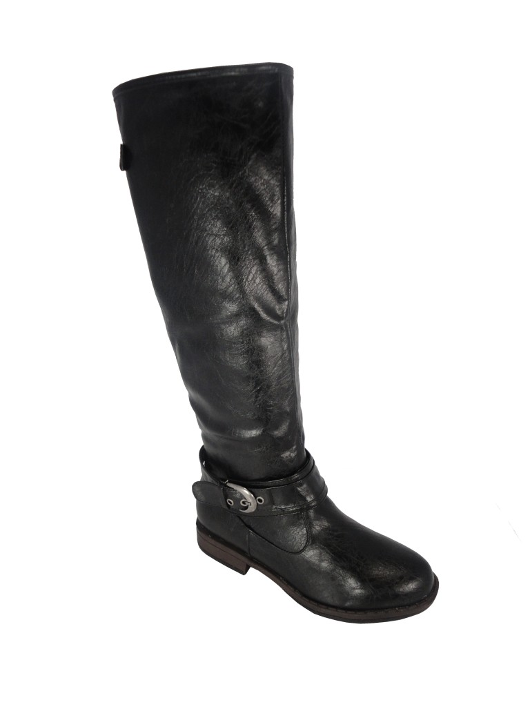 bamboo montage 08 black buckle knee high boot ebay