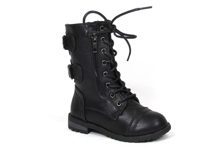 Обувь для девочек Link Mango-61KA Toddler Girls Zipper Mid Calf Militar Combat Boot