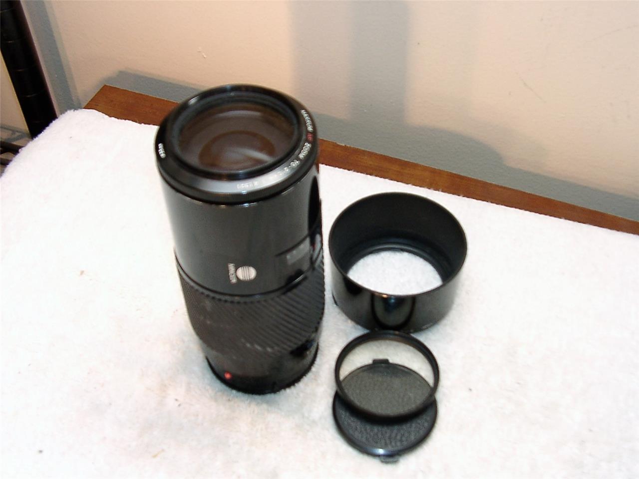 MINOLTA MAXXUM 70-210mm AF Macro BEERCAN LENS f/4 SONY ALPHA+Filter+Hood 1:4