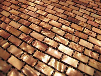 sf copper shell mosaic tile backsplash kitchen wall bathroom shower