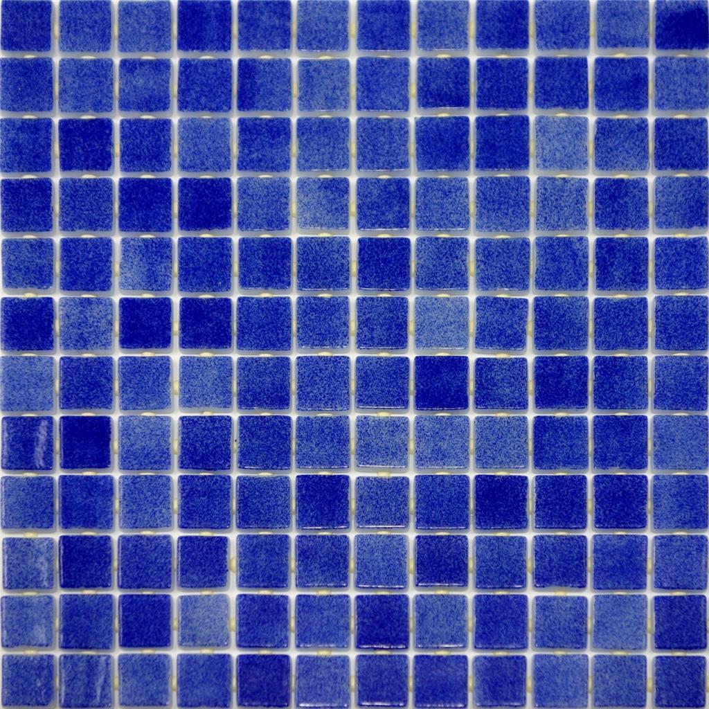 10 sf dark blue glass mosaic tile kitchen backsplash for Pool bathroom flooring