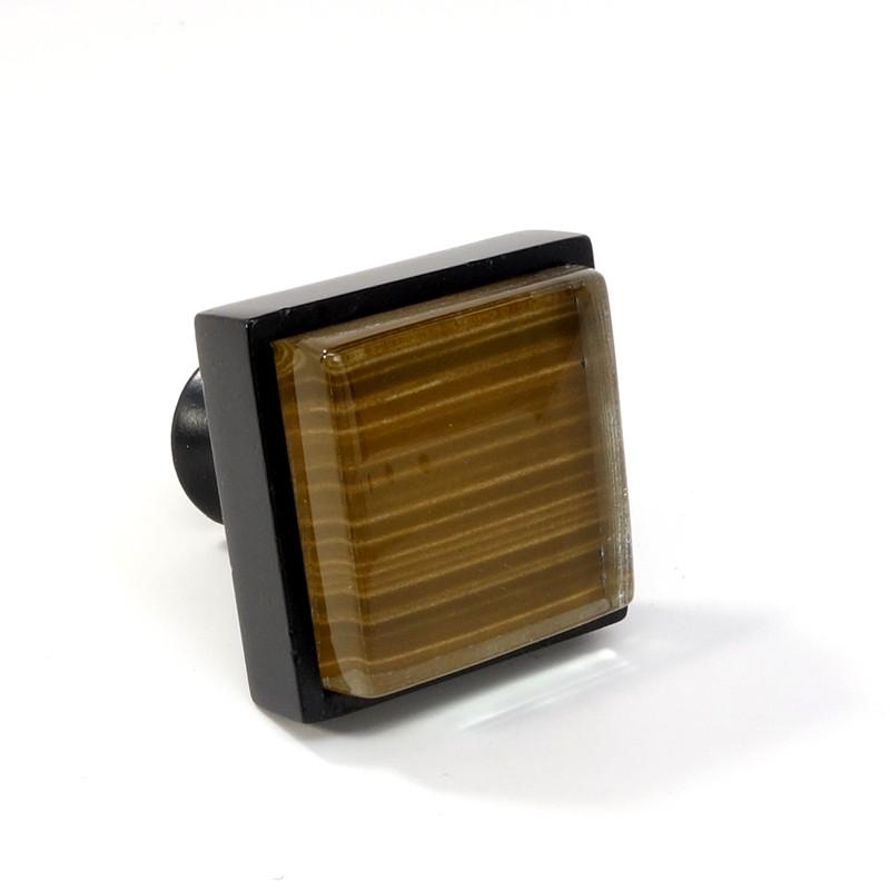 Crystal glass black metal square knob modern cabinet for Square kitchen cabinet knobs