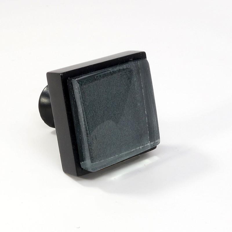 Crystal Glass Black Metal Square Knob Modern Cabinet Drawer Closet Handle Pulls Ebay