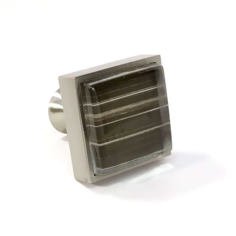 crystal glass brushed nickel square knob modern cabinet