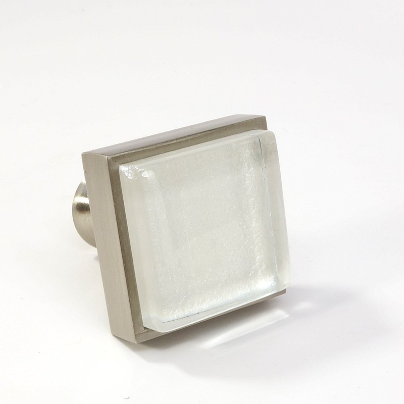 glass brushed nickel square knob modern cabinet