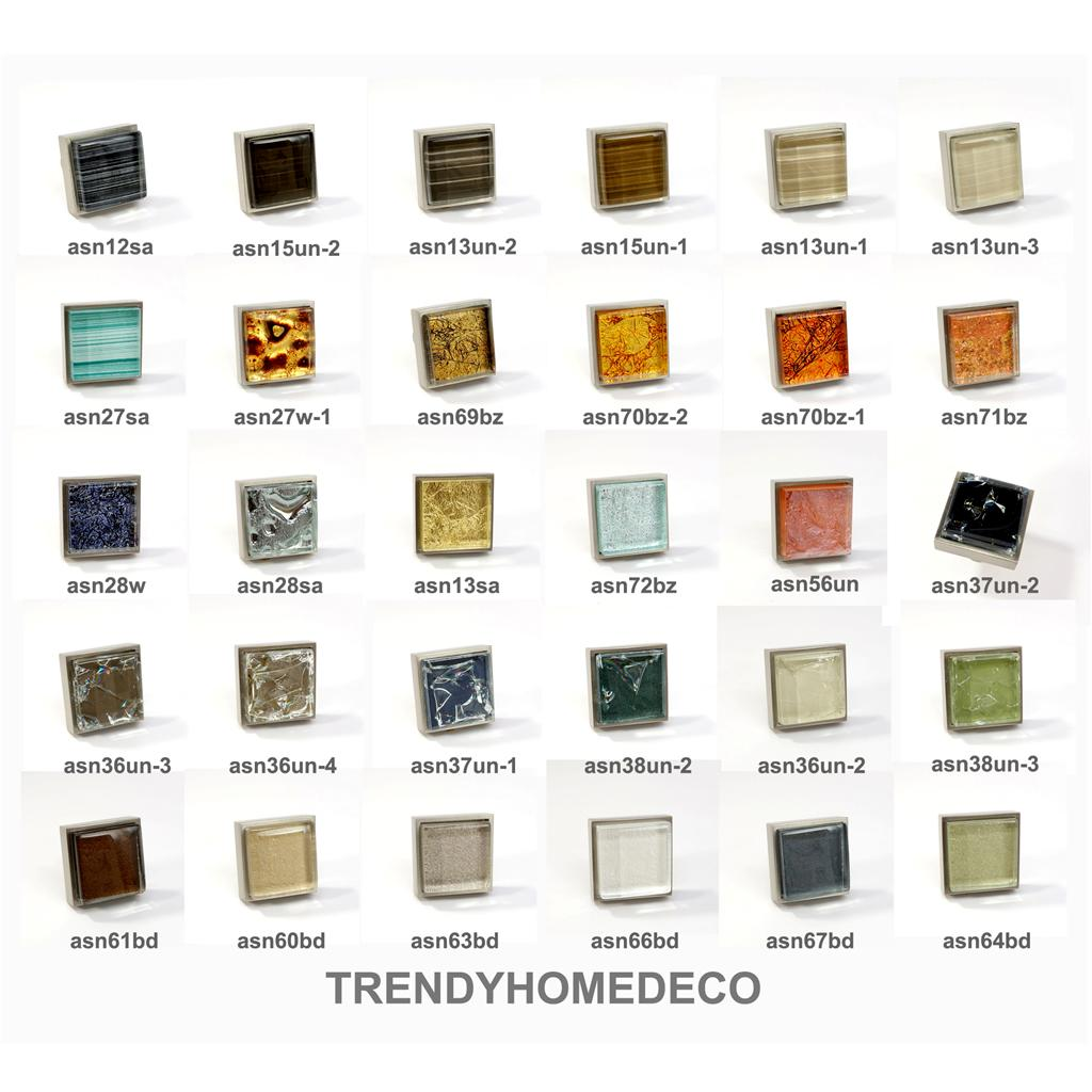 glass brushed nickel square knob modern cabinet