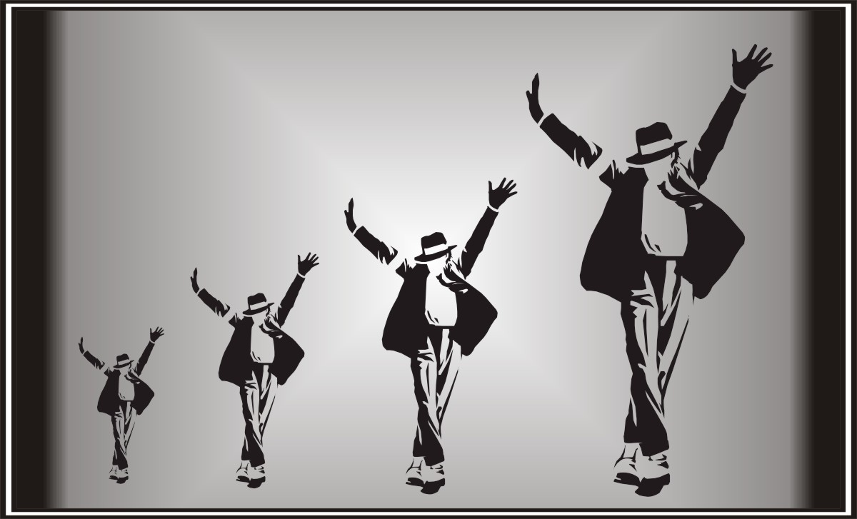 Wall art michael jackson wall sticker decal ebay for Jackson 5 mural