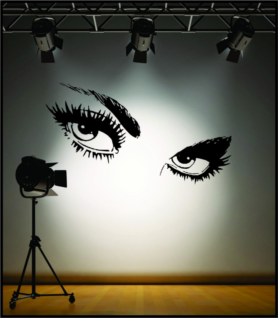 Wall Art Stickers Eyes : Wall art sexy giant eyes stickers