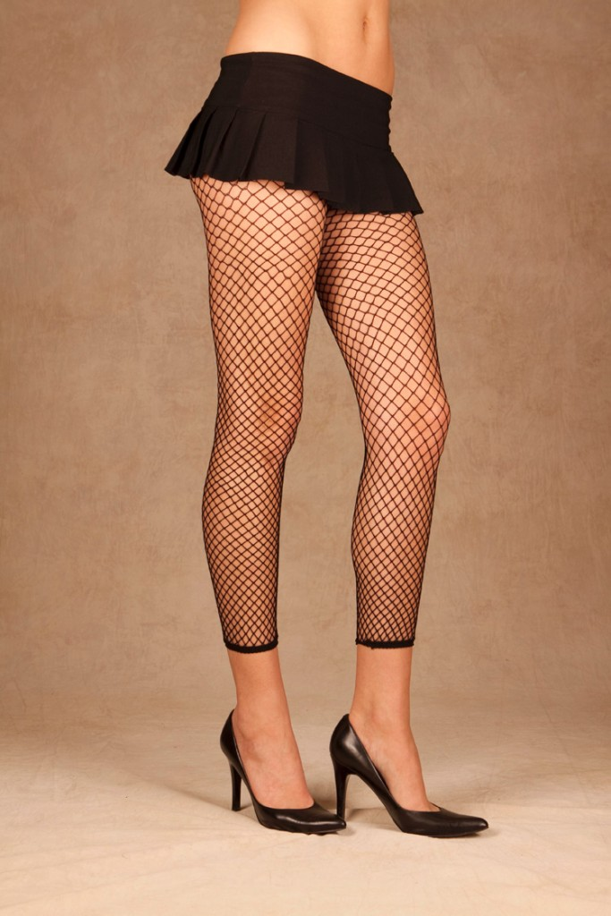 Fence-Net-Leggings-Black-White-Footless-Tights-Diamond-Industrial-Costume-1516