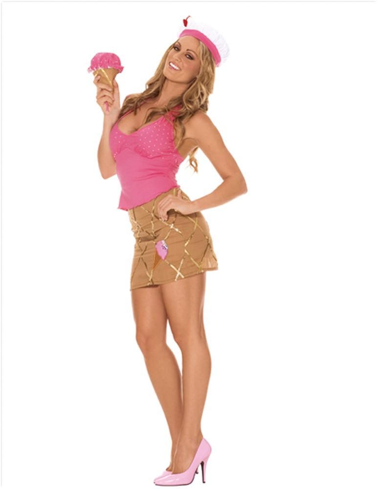 Soft Serve Sweetie Ice Cream Cone Server Top Skirt Hat Purse 9778 | eBay