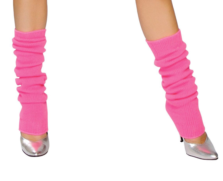 Knee High Knit Leg Warmers Thick Costume Dancer Hosiery Retro 80s Neon LW101 | EBay