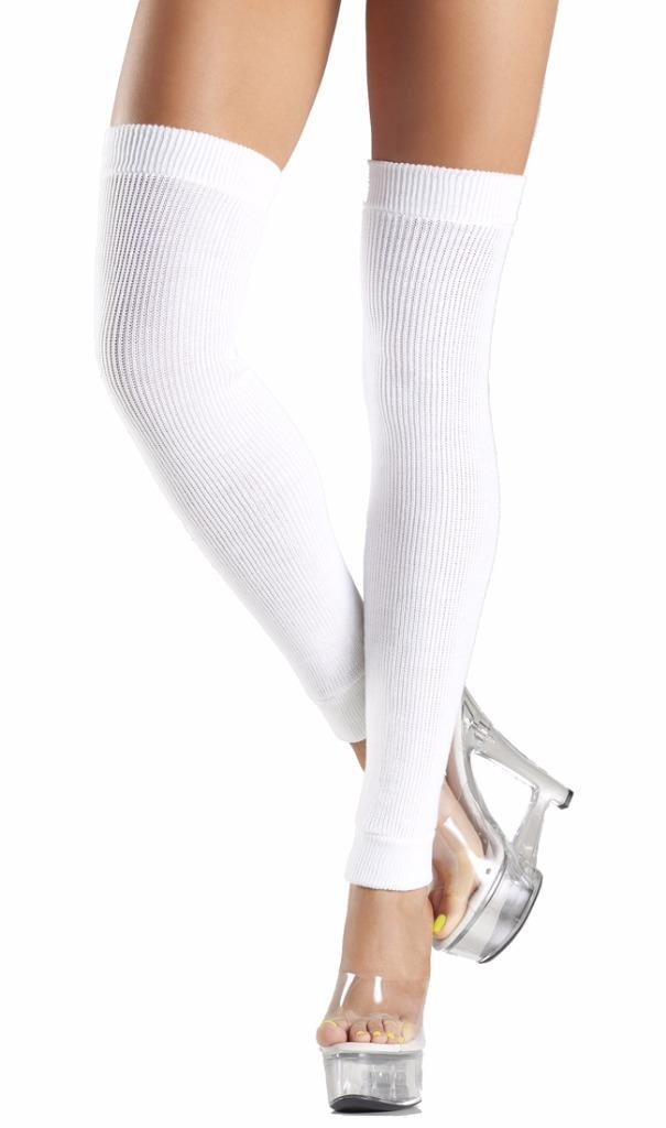 Acrylic Knit Thigh High Leg Warmers Retro Costume 80s Neon BW711 | EBay