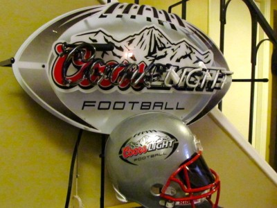 Coors Light Beer NFL Football Helmet Neon Bar Sign NEW #1: tp