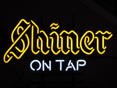 Shiner Bock Beer Logo ON TAP Neon Light Promotional Bar #0: tp