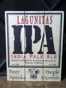 Lagunitas IPA India Pale Ale Beer Wood Bar Pub Sign New Look