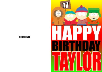 PERSONALISED SOUTH PARK BIRTHDAY CARD – South Park Birthday Card