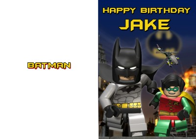 Personalised Lego Batman Birthday Card Ebay