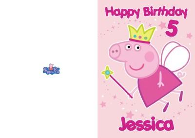 PERSONALISED PRINCESS PEPPA PIG BIRTHDAY CARD – Peppa Pig Birthday Card