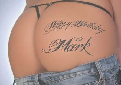 personalised sexy rude bum tattoo birthday card  ebay, Birthday card