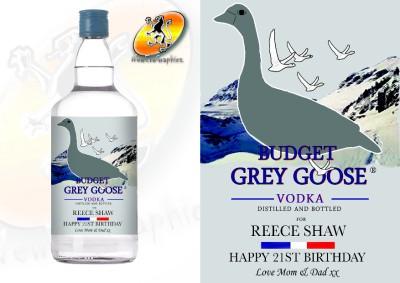 Personalised Grey Goose Grey Goose Bottle Label