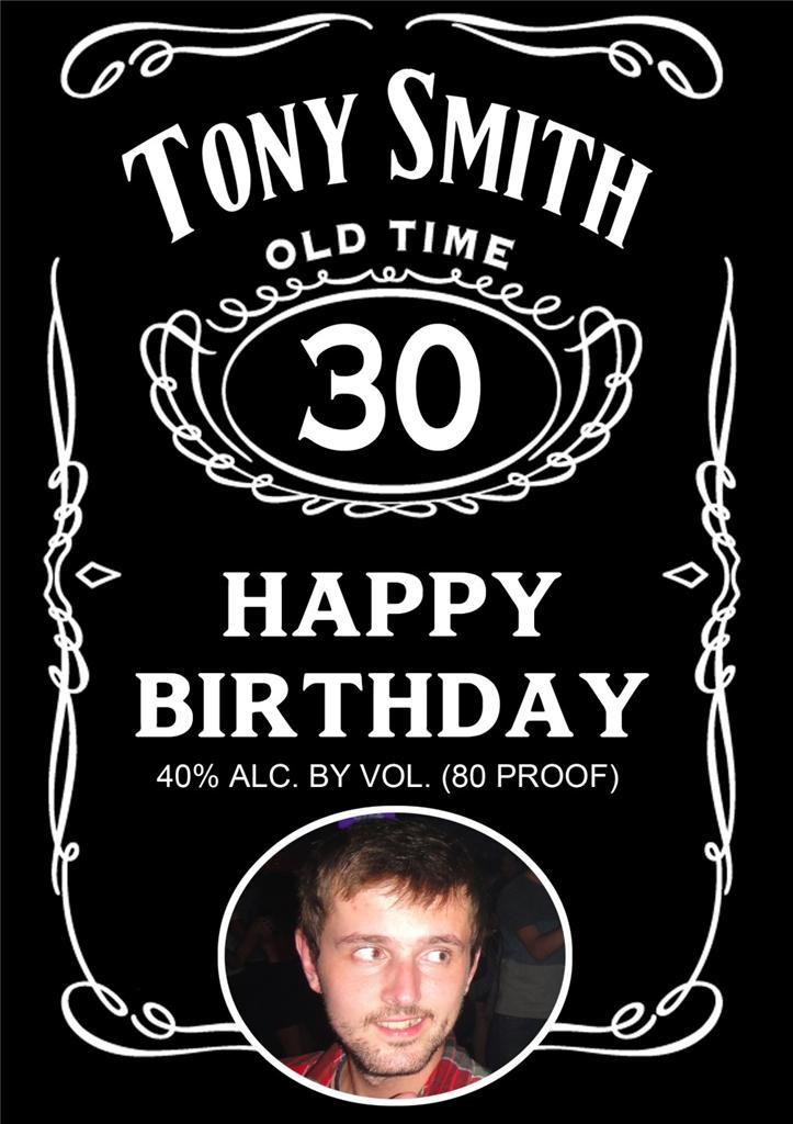 Personalised Jack Daniels Whiskey Birthday Card Ebay