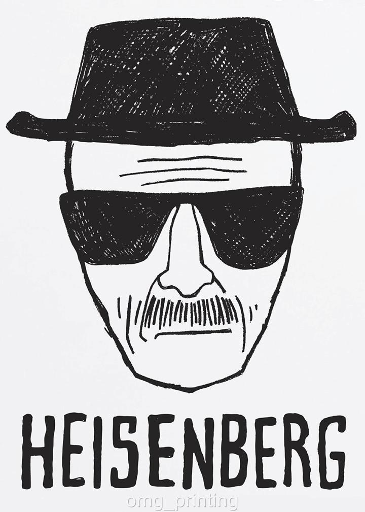 Breaking Bad Walter White Heisenberg Sketch Poster Print ...