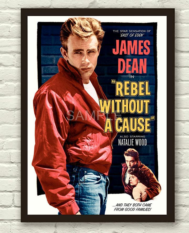 vintage rebel without a cause james dean movie film poster. Black Bedroom Furniture Sets. Home Design Ideas