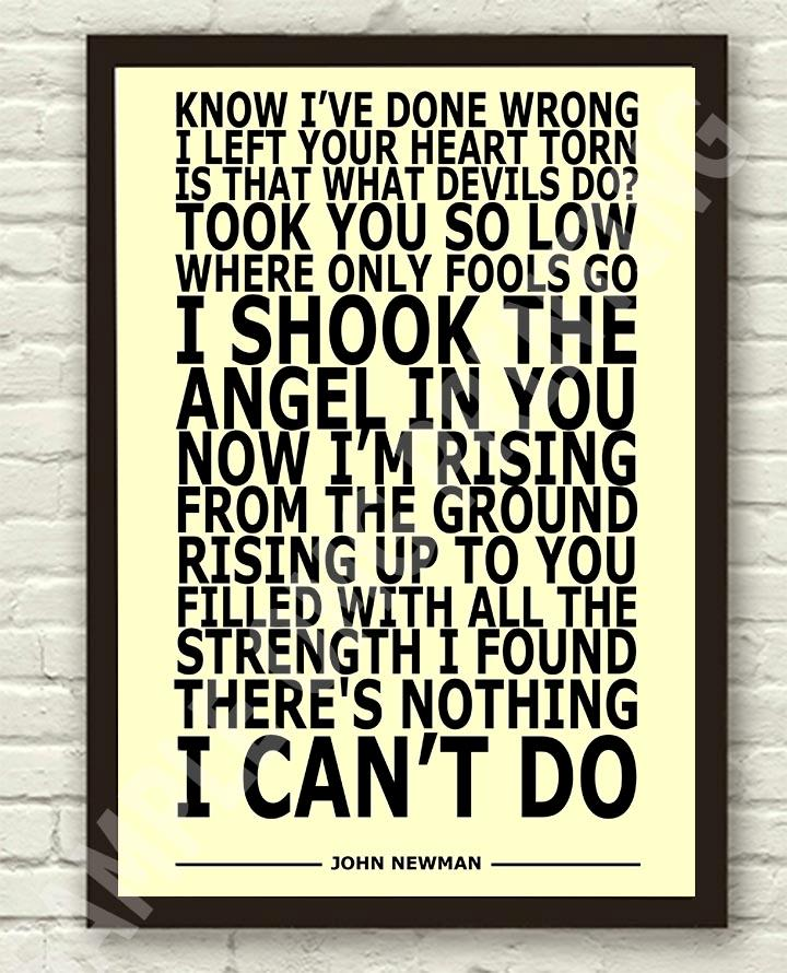 John-Newman-Love-Me-Again-Typography-Lyric-Art-Poster-Print-A4-A3-6x4-10x15cm