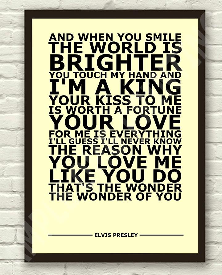 Elvis-Presley-The-Wonder-Of-You-Typography-Lyric-Art-Poster-Print-A4-A3-6x4