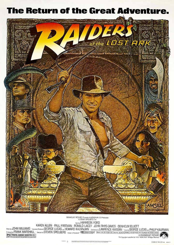 Indiana Jones Raiders Of The Lost Ark Movie Film Poster ...