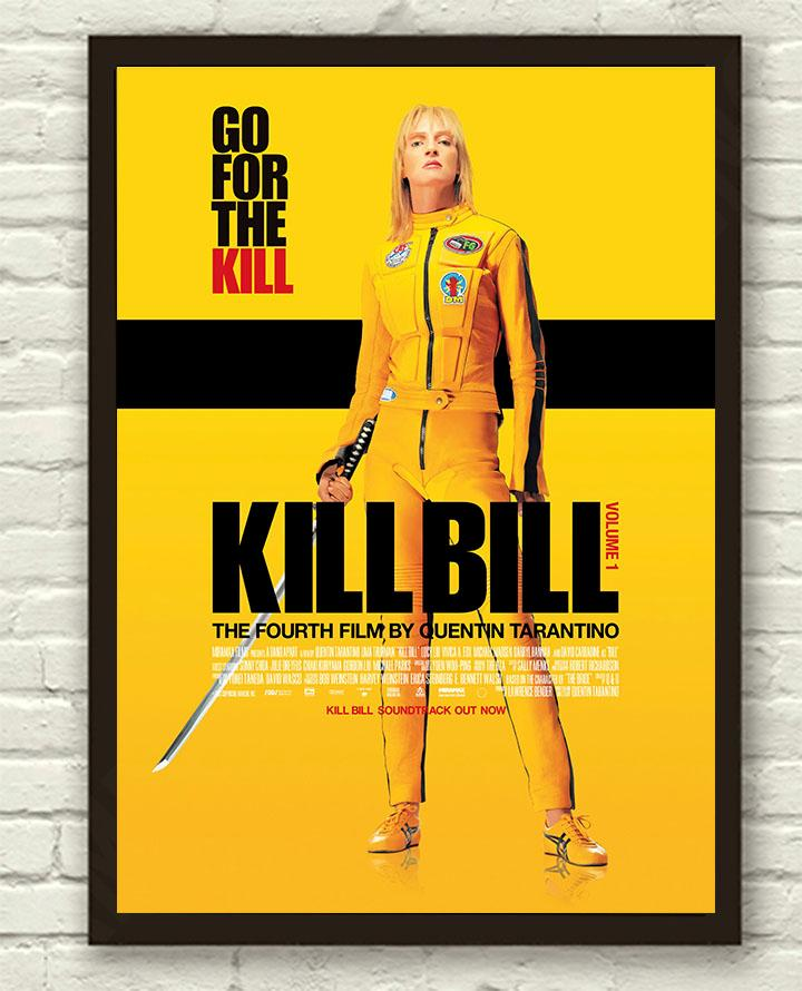 Tarantino-Kill-Bill-Vol-1-Uma-Thurman-Movie-Film-Poster-Print-Picture-A3-A4