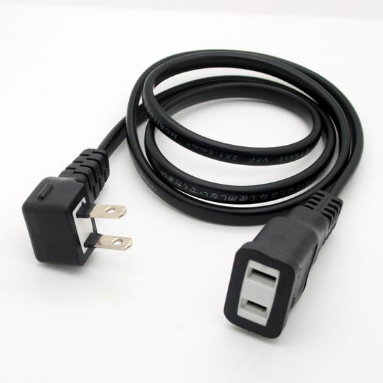 Usa japan prong angled plug to pin female extension