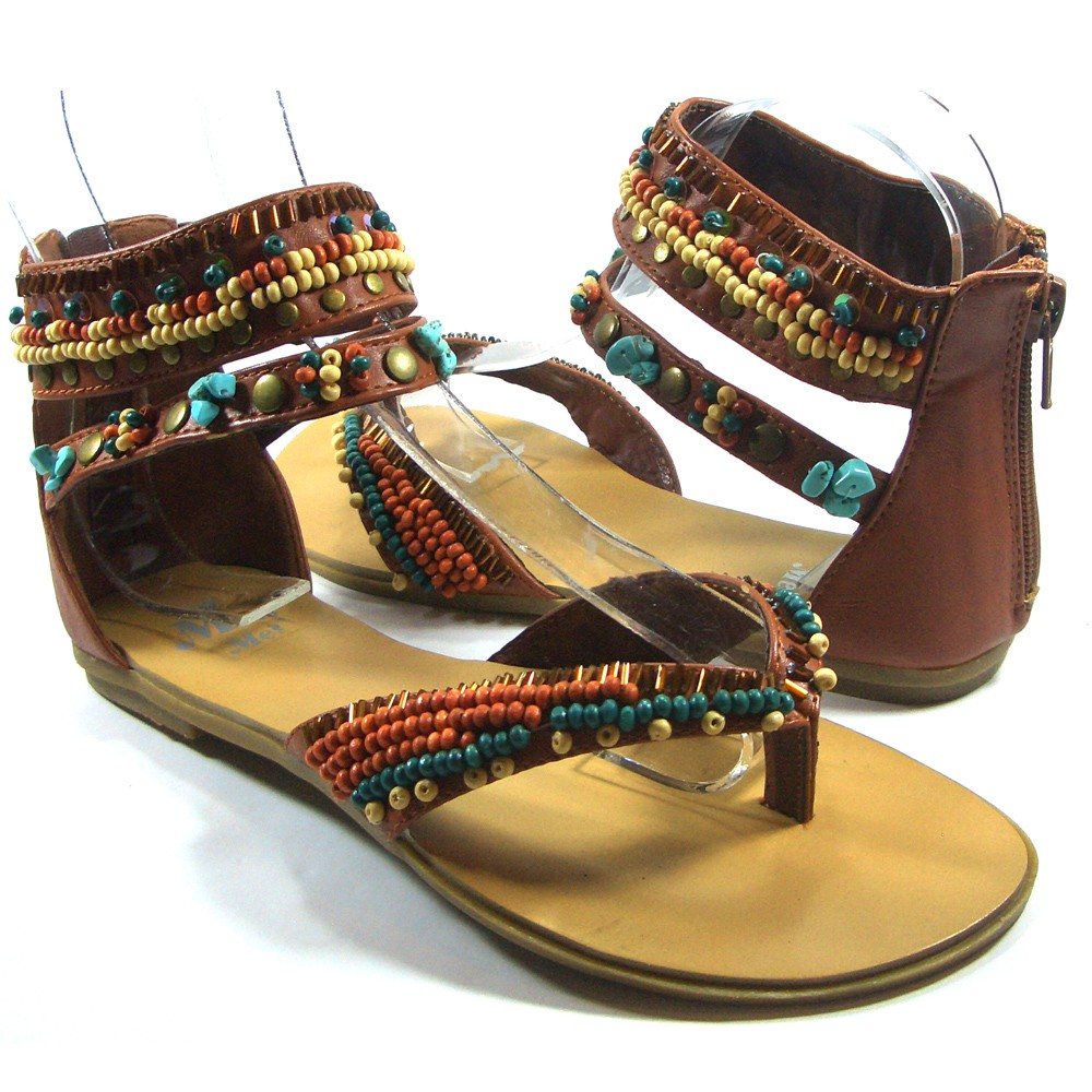 Amazing Shoes  Sandals  Cheap Womens Madae Couture Sandals  Beaded Thong
