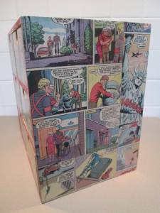 Ikea vintage comic book wooden storage unit 6 drawers for Ikea comic book