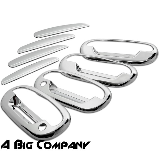 97 03 Ford F150 97 02 Expedition Mirror Chrome Door Handle Cover Trim w PSKH New