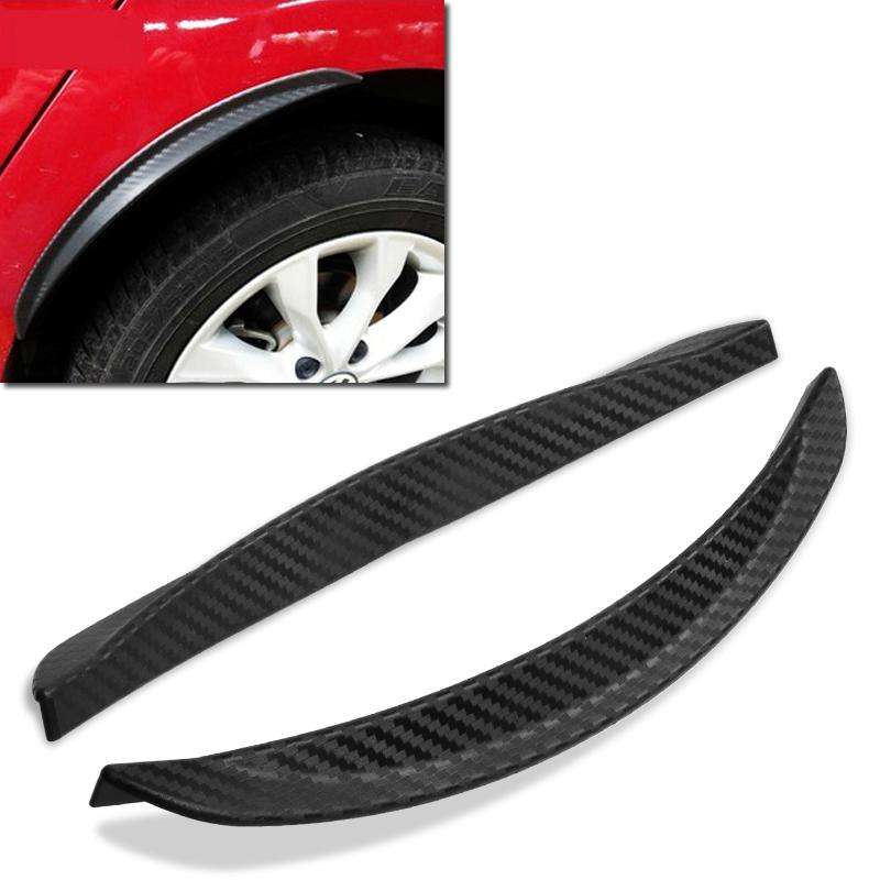 2pcs Universal Fit Car Fake Carbon Fiber Wheel Fender Mud