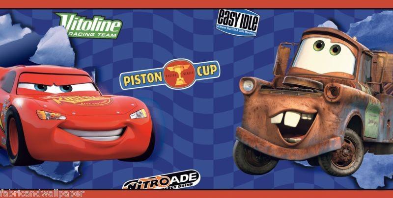 Disney pixar 39 s cars and cars 2 wall decor wallpapers for Disney pixar cars mural wallpaper