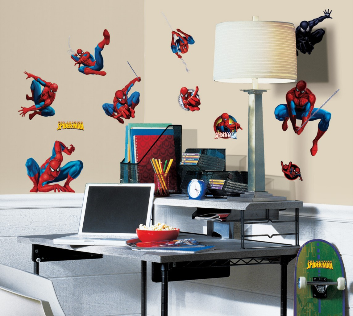 Http Www Ebay Com Itm Spiderman Wall Decor Peel Stick Decals Border Wall Size Mural 110914539709