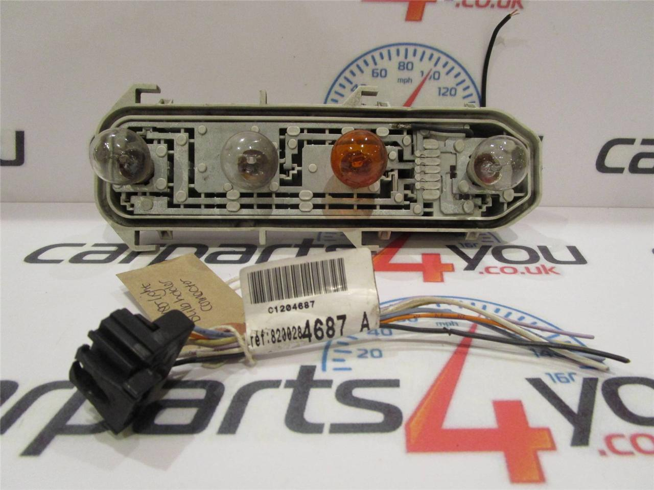 Renault Clio Rear Light Cluster Wiring Diagram : Renault clio mk ii rear tail light bulb holder