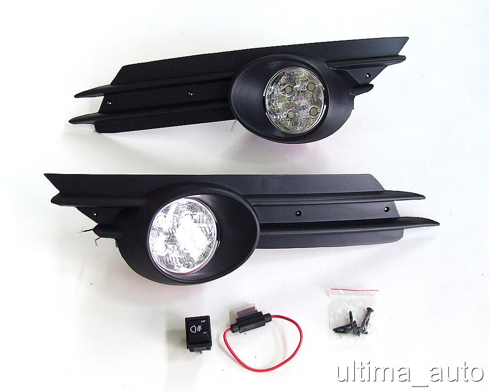 luci diurni fari fendinebbia a led con griglie per opel corsa d 2007 2010 ebay. Black Bedroom Furniture Sets. Home Design Ideas