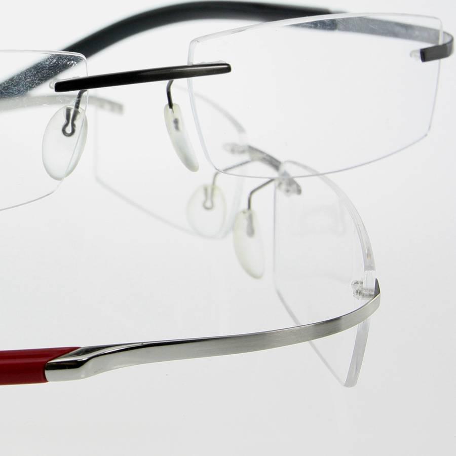 Frameless Glasses Titanium : Titanium frameless rimless eyeglasss Glasses Flexible ...
