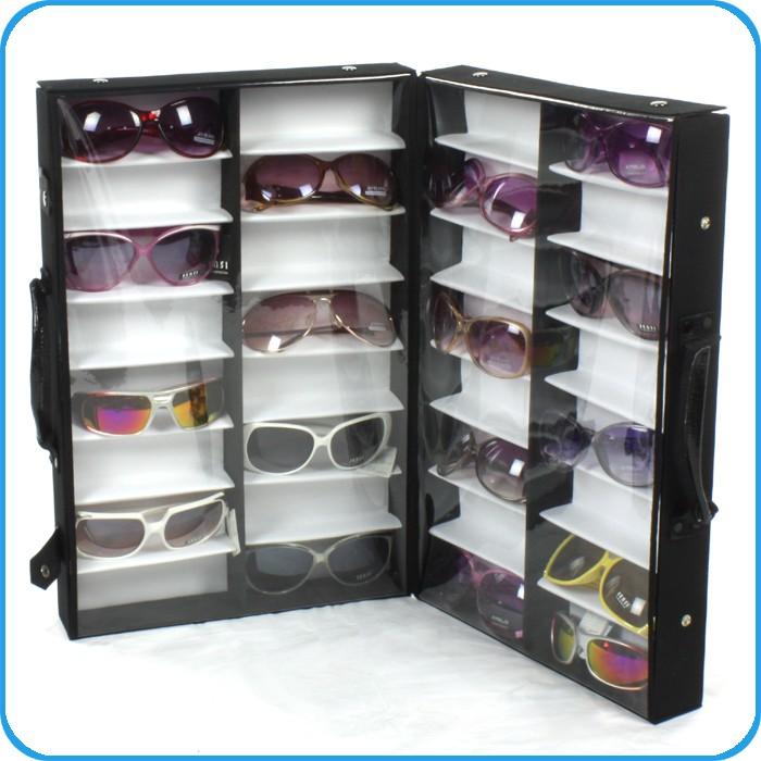 Eyeglass Frame Storage Trays : 32 Pairs Sunglasses Glasses Display Storage Box Stand Tray ...