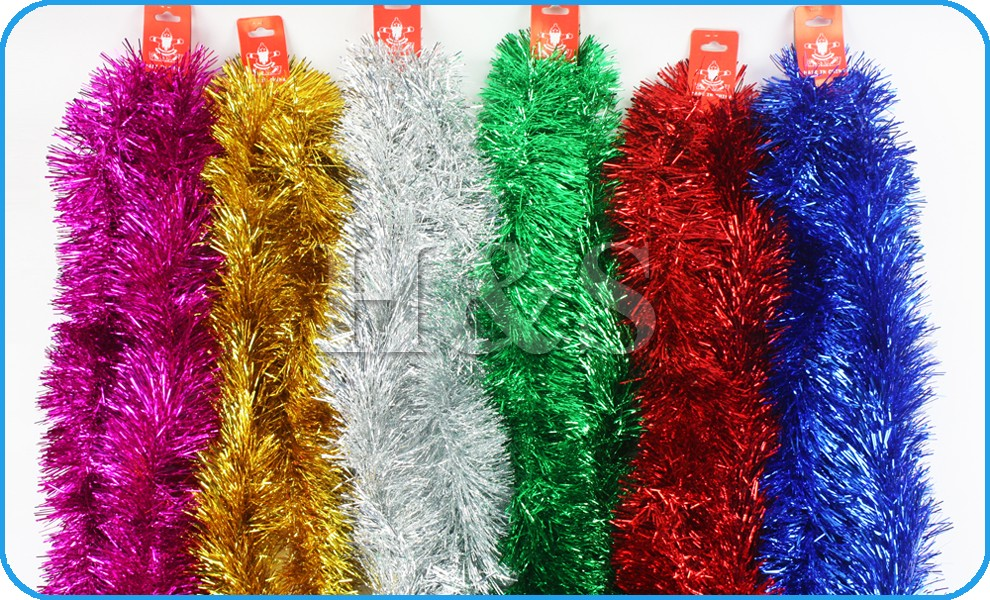 Ft m deluxe chunky christmas tinsel tree decoration